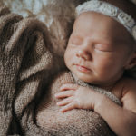 Newborn photographer on location in home