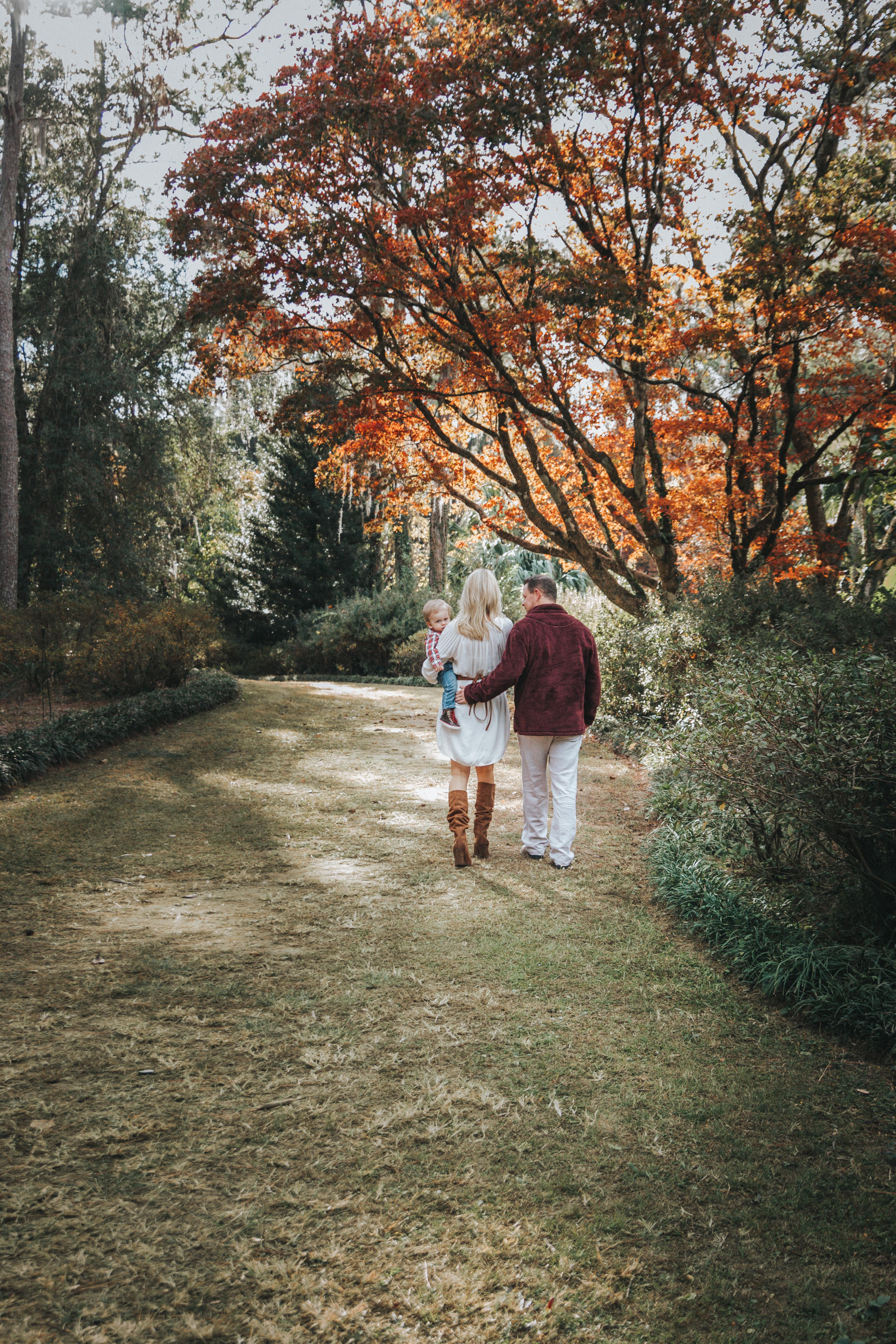 Maclay Gardens Family under fall trees