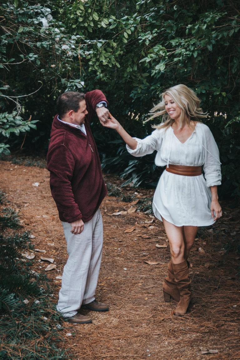 Maclay Gardens Family photographer c couple on path Catalytic Camera