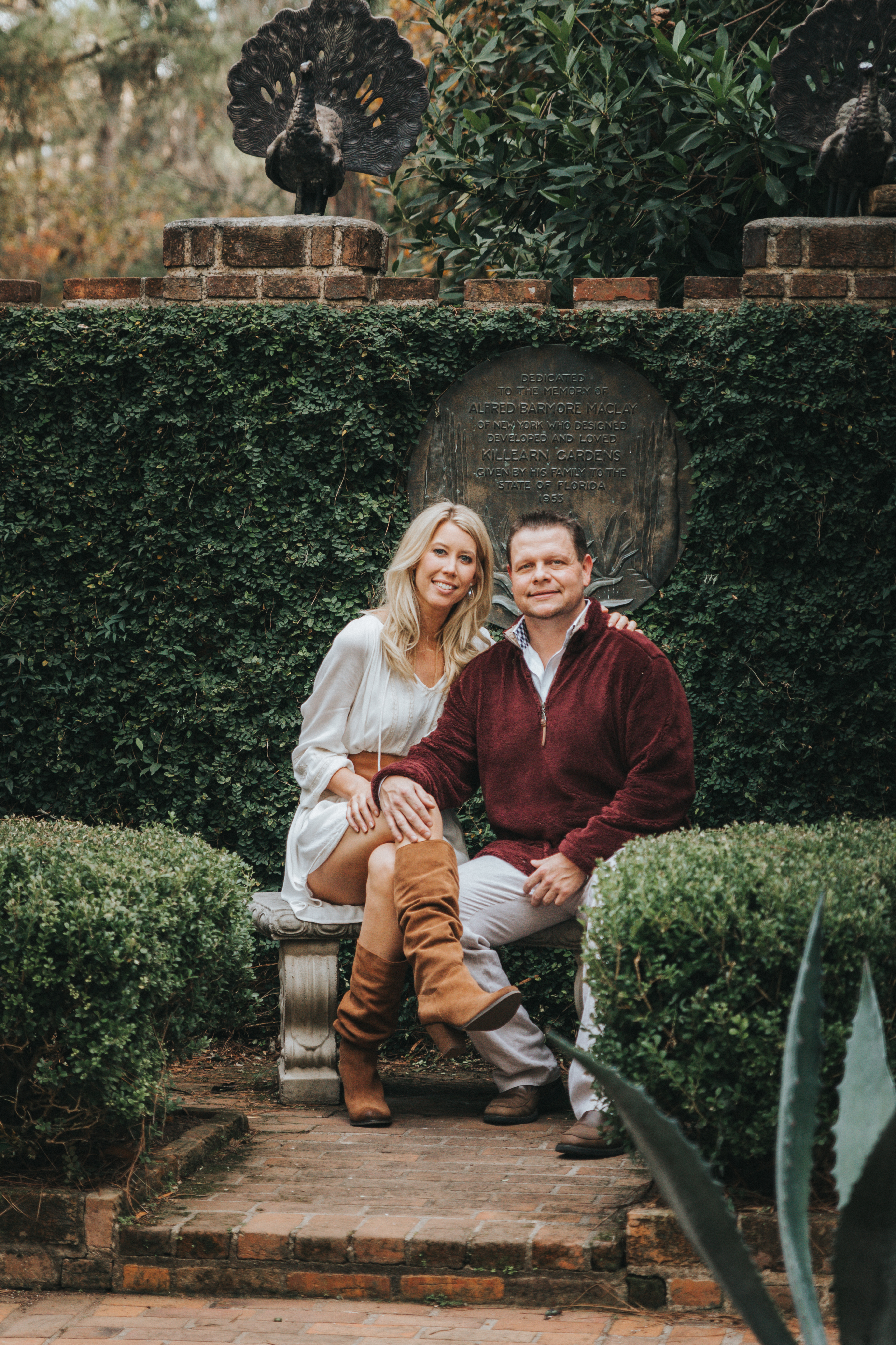 Maclay Gardens Family photographer couple Catalytic Camera
